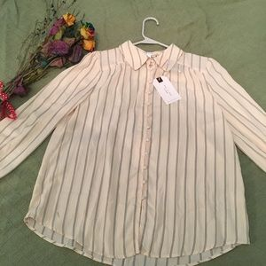 Striped Blouse NWT